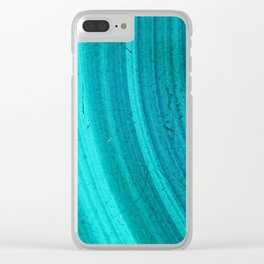 Turquoise Halos Clear iPhone Case