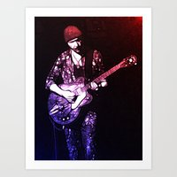 u2 Art Prints featuring U2 / The Edge by JR van Kampen