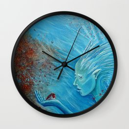 The Herald of Winter Wall Clock
