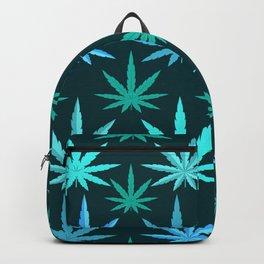 Marijuana Teal Weed Backpack
