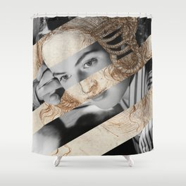 Leonardo Da Vinci's Head of Leda & Ingrid Bergman Shower Curtain