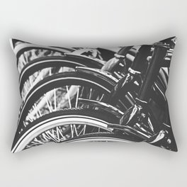 Bicycles, Bikes in Black and White Photography Rectangular Pillow