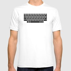 Captain's Keyboard White MEDIUM Mens Fitted Tee