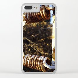 Rusted Springs Clear iPhone Case