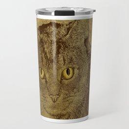 Brown Tabby Travel Mug