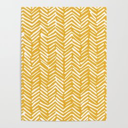 Boho Mudcloth Pattern, Summer Yellow Poster