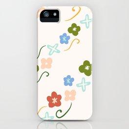 'My little floral' pattern - gouache paint iPhone Case