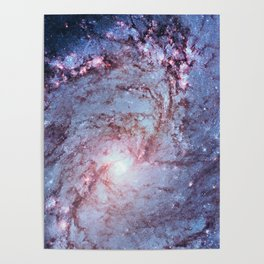Messier 83, Southern Pinwheel Galaxy, M83 in the constellation Hydra. Poster