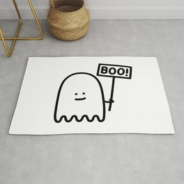 Boo! - Ignorant Doodles Rug