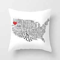 oregon Throw Pillows featuring Oregon by Taylor Steiner