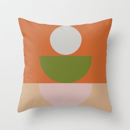 Geometric Shapes #fallwinter #colortrend #decor Throw Pillow