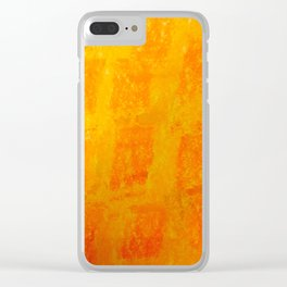 Orange brick wall Clear iPhone Case