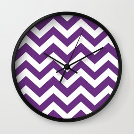 Eminence - violet color - Zigzag Chevron Pattern Wall Clock