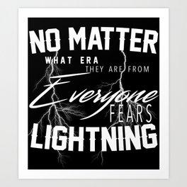 Fear Lightning Art Print