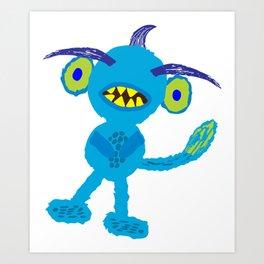 Liam's Monster Bloo Art Print