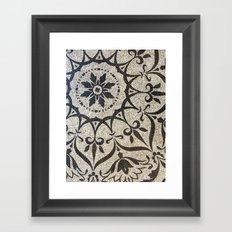 Floral Mosaic Framed Art Print