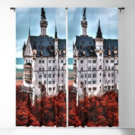 The Castle of Mad King Ludwig in the Autumn, Neuschwanstein Castle, Bavaria, Germany Blackout Curtain