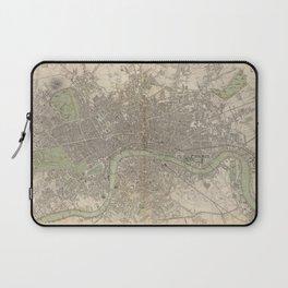 Vintage Map of London England (1843) Laptop Sleeve