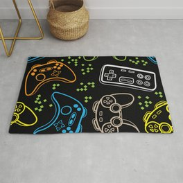 Seamless bright pattern with joysticks. gaming cool print Rug