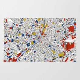 Paris Mondrian Map Art Rug