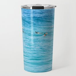 Ten Men One Wave Travel Mug