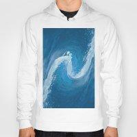 wave Hoodies featuring Wave by Baris erdem