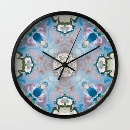 Blue Stone Abstract Design Wall Clock