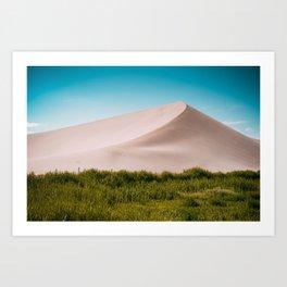 Dune green blue Art Print
