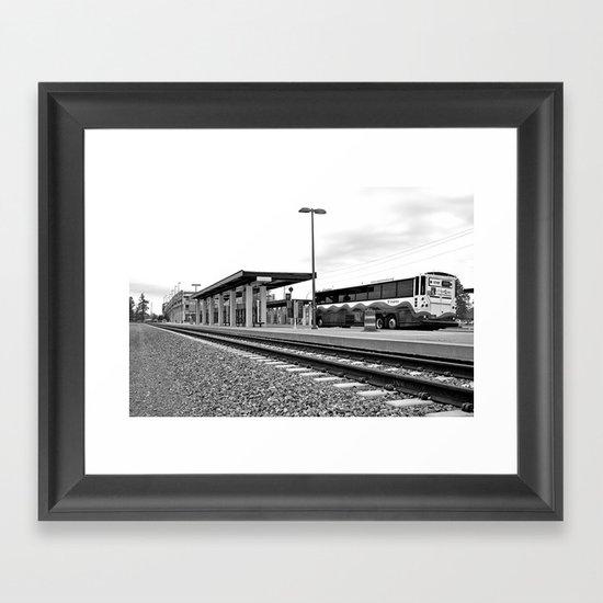Sound Transit station Framed Art Print