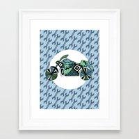 motorbike Framed Art Prints featuring motorbike by Cosy Walnut