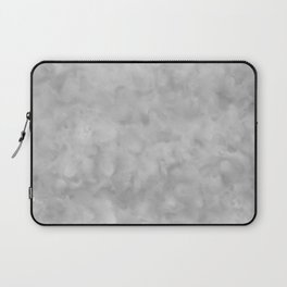 Soft Gray Clouds Texture Laptop Sleeve