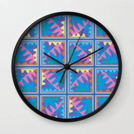 Mountain Puzzles Pastel Wall Clock