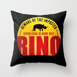 Beware of The Imposter Throw Pillow
