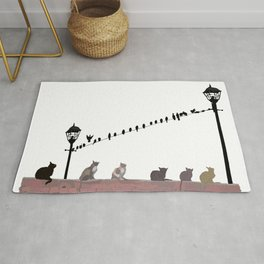 Cats and Birds Rug