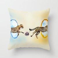 portal Throw Pillows featuring Portal by Anna Shell