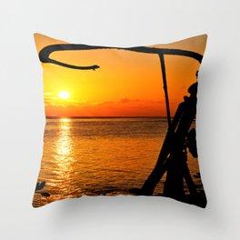 Sunrise The Maldives Throw Pillow
