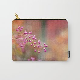 Pink Berries with Pink Orange and Gold Tie Dye Carry-All Pouch