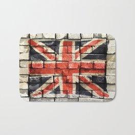 Union Jack Graffiti Bath Mat