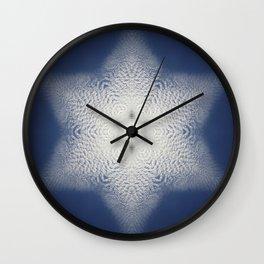 Snowflake of clouds kaleidoscope Wall Clock
