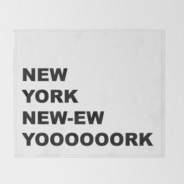 New York, New York Throw Blanket