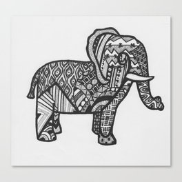 Elephant Entangled Canvas Print