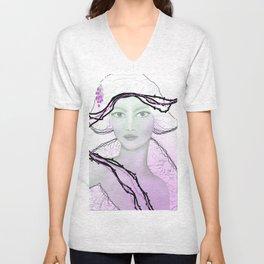 woman in white Unisex V-Neck