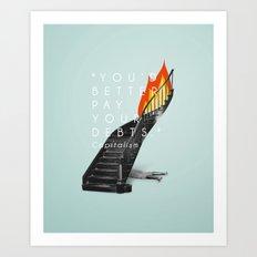 Capitalism. Art Print
