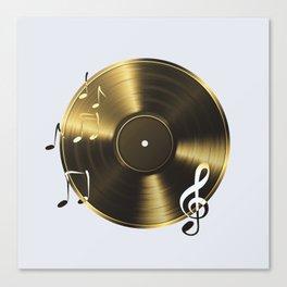 Gold LP Vinyl Record Canvas Print