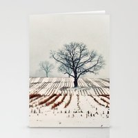 farm Stationery Cards featuring Winter Farm by elle moss