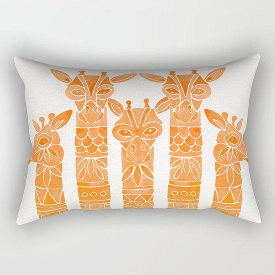 Giraffes – Orange Ombré Rectangular Pillow
