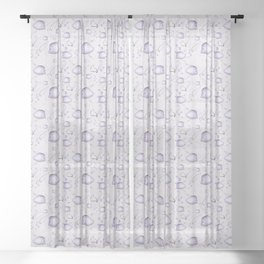 Big and small pastel fishes Sheer Curtain