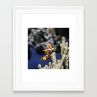 nemo Framed Art Prints featuring Nemo by lulu althuwaini