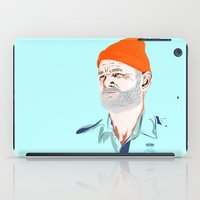 zissou iPad Cases featuring Doc Zissou by The Art Warriors