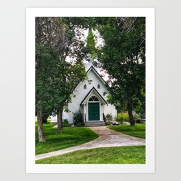 Poker Church Summer Art Print